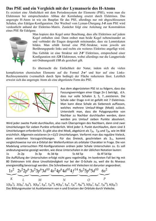 PSE und Elektronen-Set