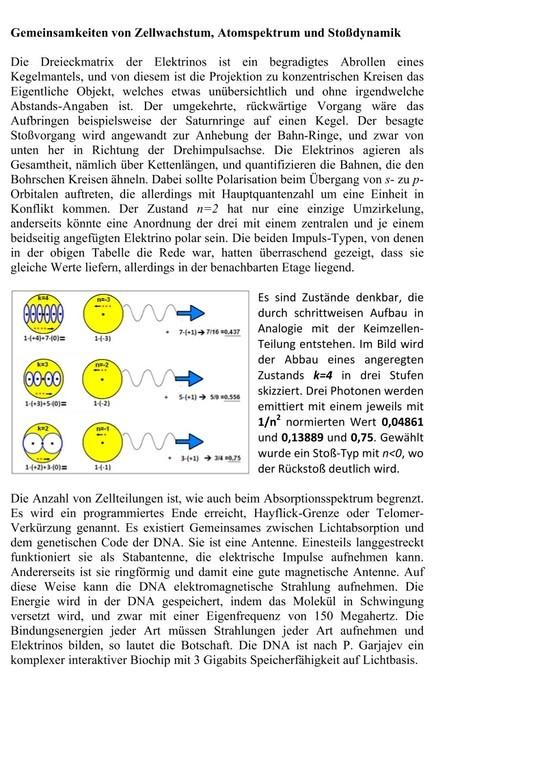 Zellwachstum und Atomspektrum